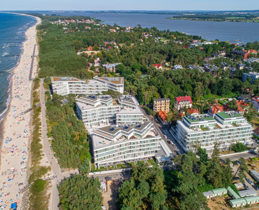 Apartamenty Dune Mielno Resort widok z drona