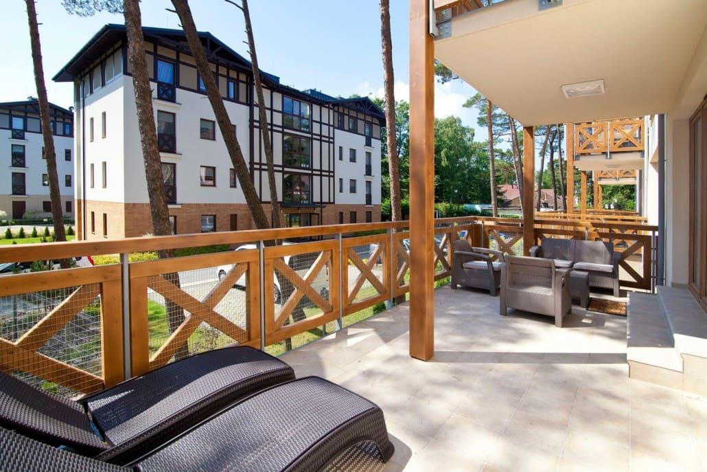 Apartamenty Mielno z tarasem